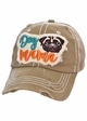 Dog Mama Pug Washed Vintage Baseball Hat inset 3
