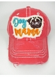 Dog Mama Pug Washed Vintage Baseball Hat inset 4