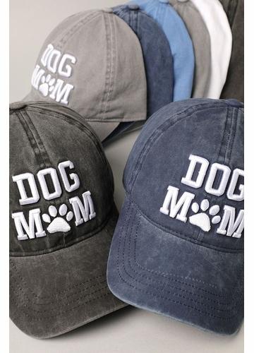 Dog Mom 3D Embroidery Baseball Hat