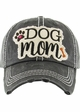 Dog Mom Washed Vintage Baseball Hat inset 2