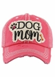 Dog Mom Washed Vintage Baseball Hat inset 4