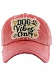 DOG VIBES ONLY Washed Vintage Baseball Hat inset 1