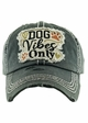 DOG VIBES ONLY Washed Vintage Baseball Hat inset 2