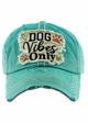 DOG VIBES ONLY Washed Vintage Baseball Hat inset 3