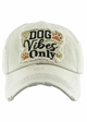 DOG VIBES ONLY Washed Vintage Baseball Hat inset 4