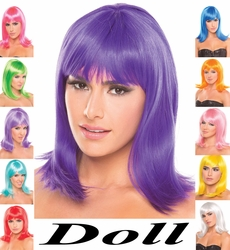 Doll- Tapered Shoulder Length Wig with Bangs