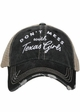 Don't Mess with Texas Girls Hat inset 2