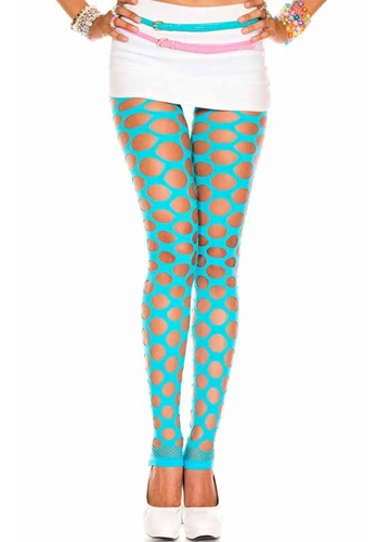Donut Hole Net Footless Tights