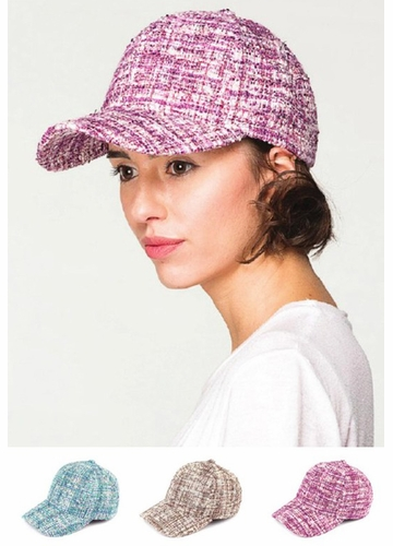 Dressed Up Tweed Baseball Cap from CC Brand