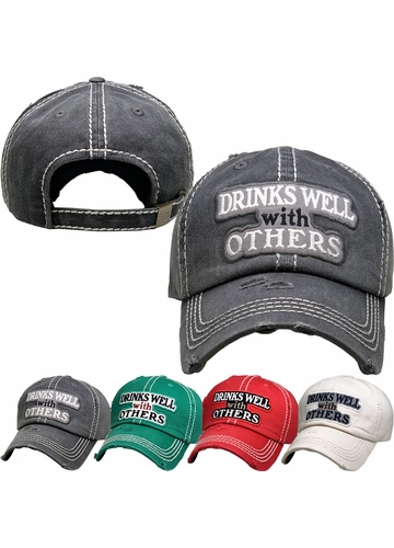 Drinks Well With Others Vintage Ballcap