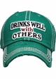 Drinks Well With Others Vintage Ballcap inset 1