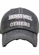 Drinks Well With Others Vintage Ballcap inset 2