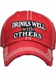 Drinks Well With Others Vintage Ballcap inset 3