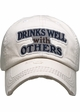 Drinks Well With Others Vintage Ballcap inset 4