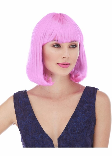 Edgy Page Style Wig in Light Pink