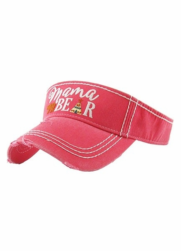 Mama Bear Embroidered Visor