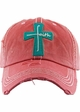 Faith Cross Vintage Distressed Baseball Cap inset 1