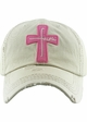 Faith Cross Vintage Distressed Baseball Cap inset 2