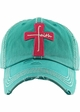 Faith Cross Vintage Distressed Baseball Cap inset 3