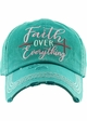 FAITH OVER EVERYTHING Washed Vintage Ballcap inset 2