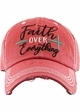 FAITH OVER EVERYTHING Washed Vintage Ballcap inset 3