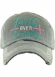 FAITH OVER EVERYTHING Washed Vintage Ballcap inset 4