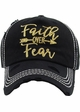 Faith Over Fear Washed Vintage Ballcap inset 1