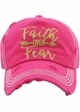 Faith Over Fear Washed Vintage Ballcap inset 2
