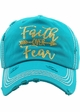 Faith Over Fear Washed Vintage Ballcap inset 3