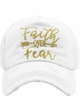 Faith Over Fear Washed Vintage Ballcap inset 4