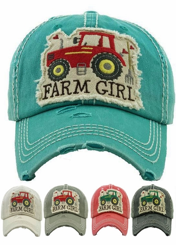Farm Girl Vintage Patch Baseball Hat
