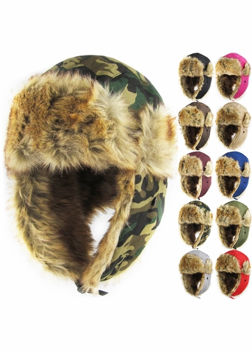 Faux Fur Aviator Winter Hat