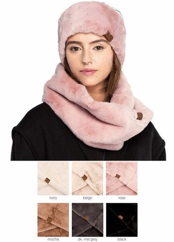 Faux Fur Head Wrap with Sherpa Lining by CC Brand