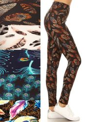Feather, Peacock and Birds Leggings