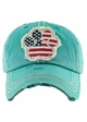 FLAG PAW PRINT Washed Vintage Baseball Hat inset 2