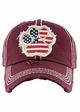 FLAG PAW PRINT Washed Vintage Baseball Hat inset 3
