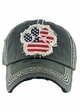 FLAG PAW PRINT Washed Vintage Baseball Hat inset 4