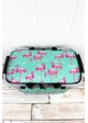 Flamingo Dance Collapsible Insulated Market Basket with Lid inset 1