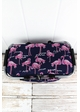 Flamingo Party Collapsible Insulated Market Basket with Lid inset 1