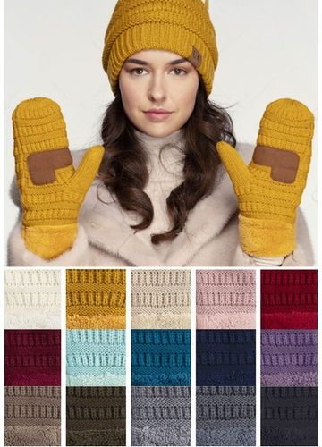 Fleece Lined CC Mittens Gloves