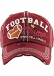 FOOTBALL MAMA May Yell Loudly Washed Vintage Baseball Hat inset 1