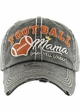 FOOTBALL MAMA May Yell Loudly Washed Vintage Baseball Hat inset 2
