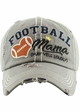 FOOTBALL MAMA May Yell Loudly Washed Vintage Baseball Hat inset 3