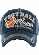 FOOTBALL MAMA May Yell Loudly Washed Vintage Baseball Hat inset 4
