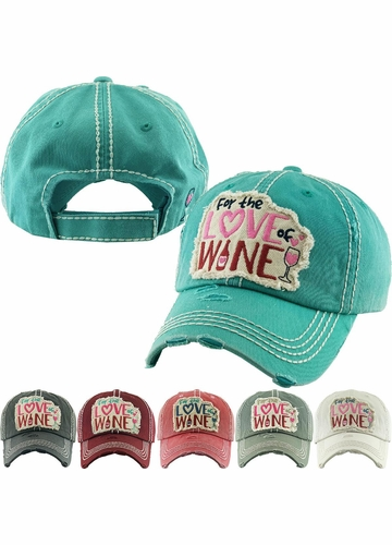 FOR THE LOVE OF WINE Vintage Baseball Hat