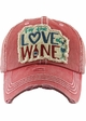 FOR THE LOVE OF WINE Vintage Baseball Hat inset 3