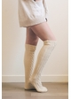 French Cable Knit Over The Knee Socks inset 2