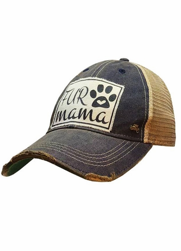 Fur Mama Distressed Trucker Cap