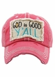GOD IS GOOD Y'ALL Washed Vintage Baseball Cap inset 3