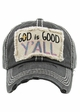 GOD IS GOOD Y'ALL Washed Vintage Baseball Cap inset 4